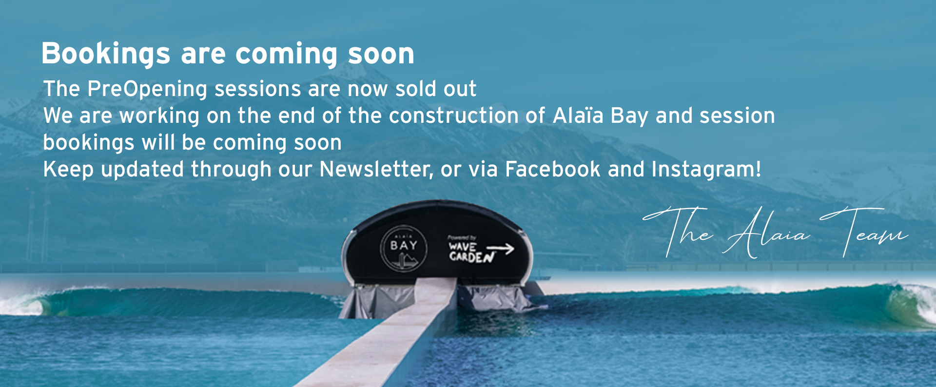 Bookings are coming soon Alaïa Bay